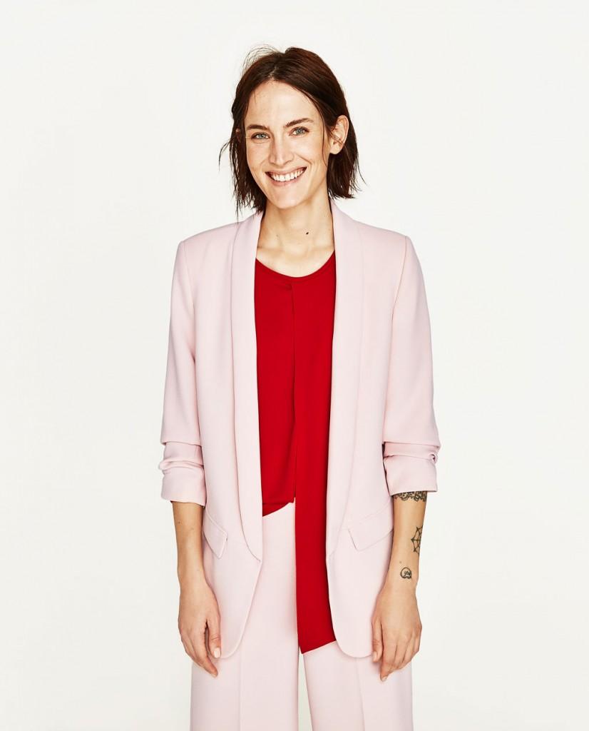 giacca rosa zara