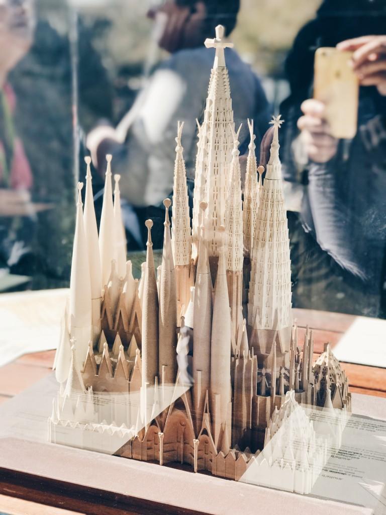 Modellino in scala della Sagrada Familia finita