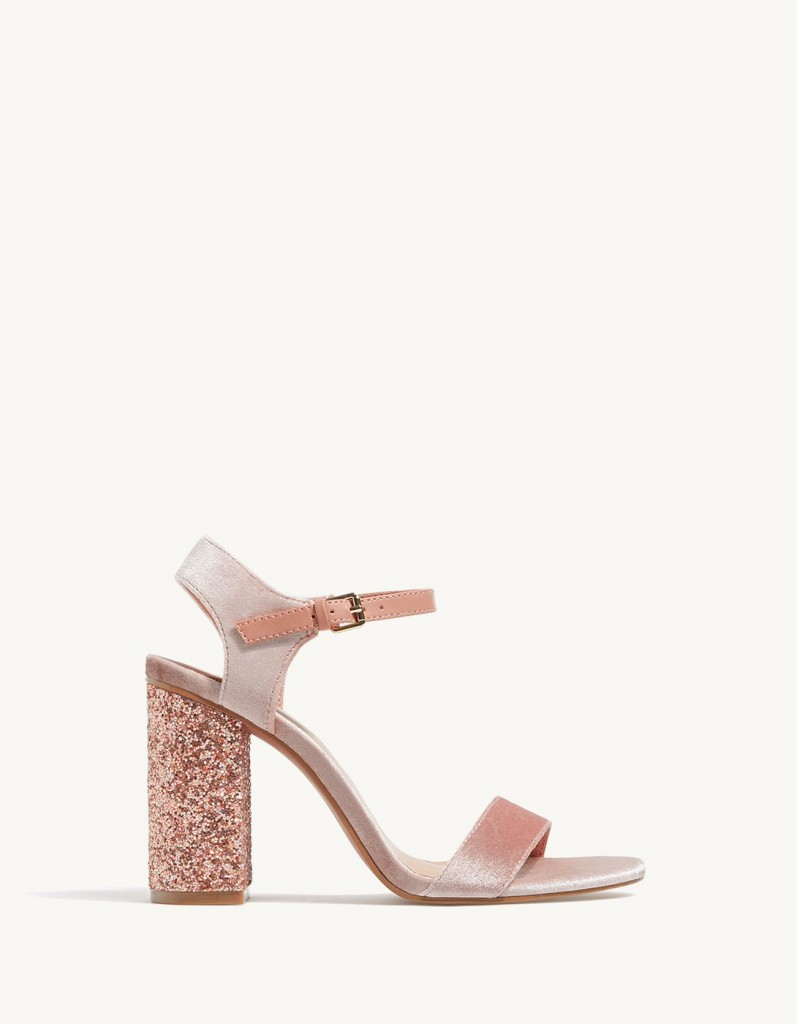 sandalo velluto glitter