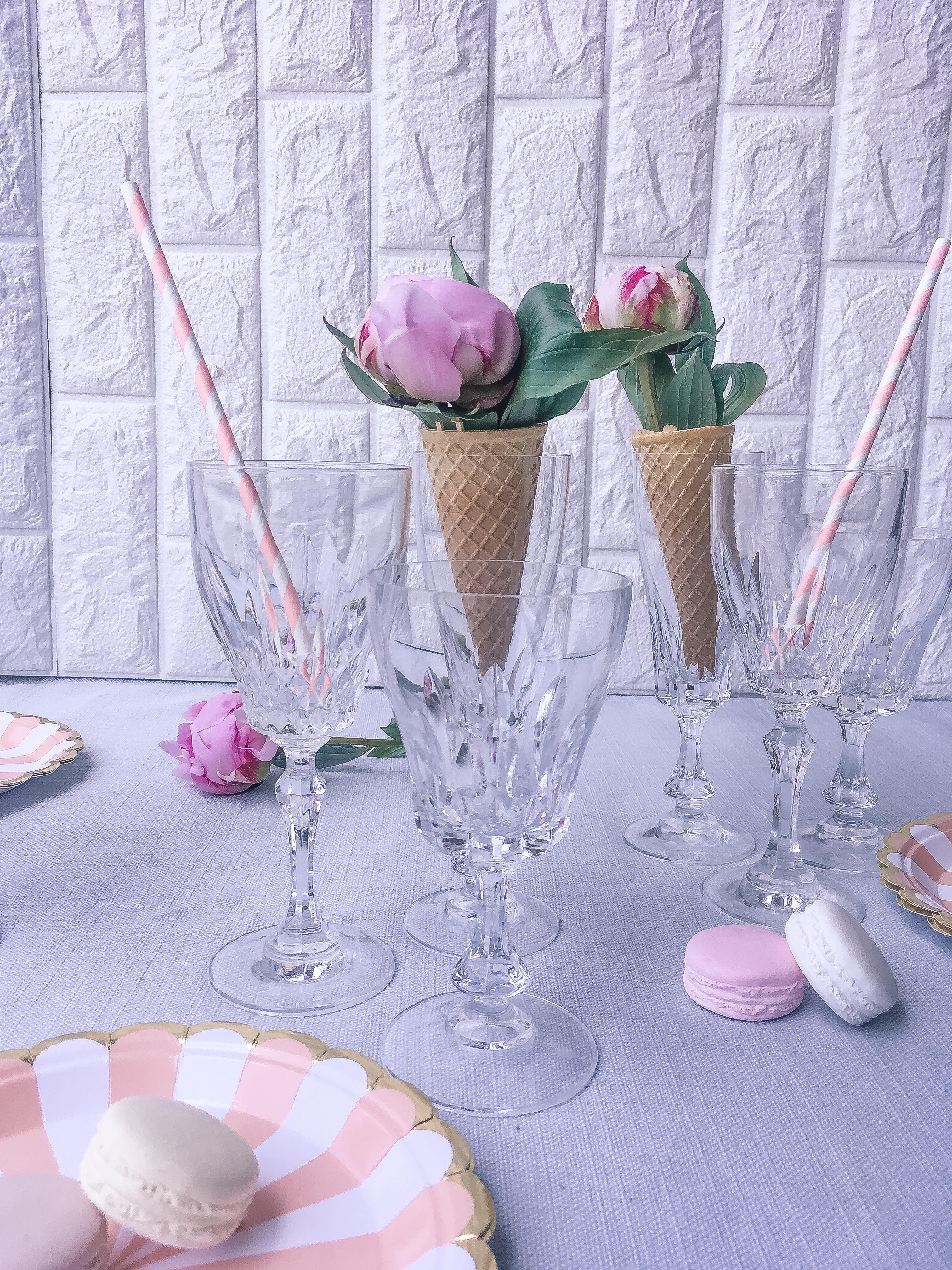 Idee per un centro tavola estivo con i coni gelato