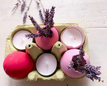 centrotavola di Pasqua con le uova